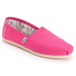 Toms Classics Earthwise Pink Vegan Womens Sneakers